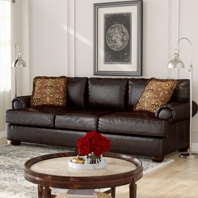 Fleur De Lis Living Stewartsville Leather Sofa & Reviews | Wayfair