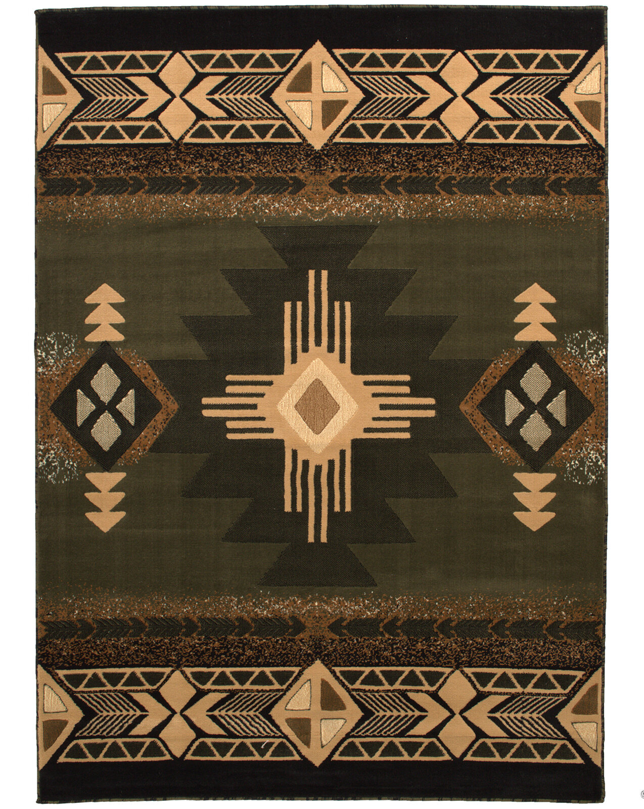 Loon Peak Iberide High Quality Woven Native American Runner Double Shot Drop Sch Carving Sage Green Area Rug Reviews Wayfair