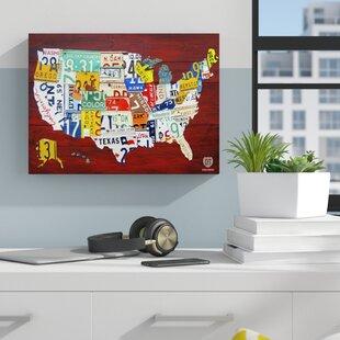 License Plate Wall Art | Wayfair