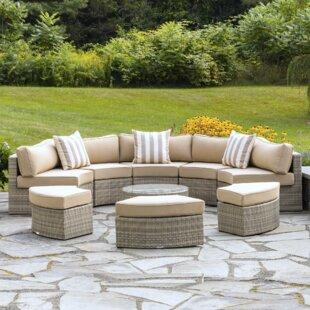 semi circular outdoor seating wayfair rh wayfair com