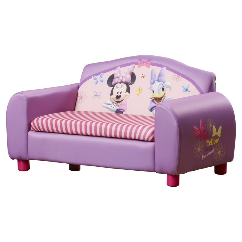 Disney Minnie Mouse Kids Sofa With Storage Compartment