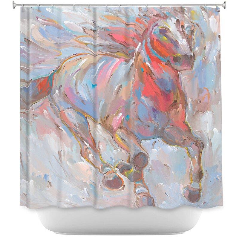 Horse Power I Horses Shower Curtain