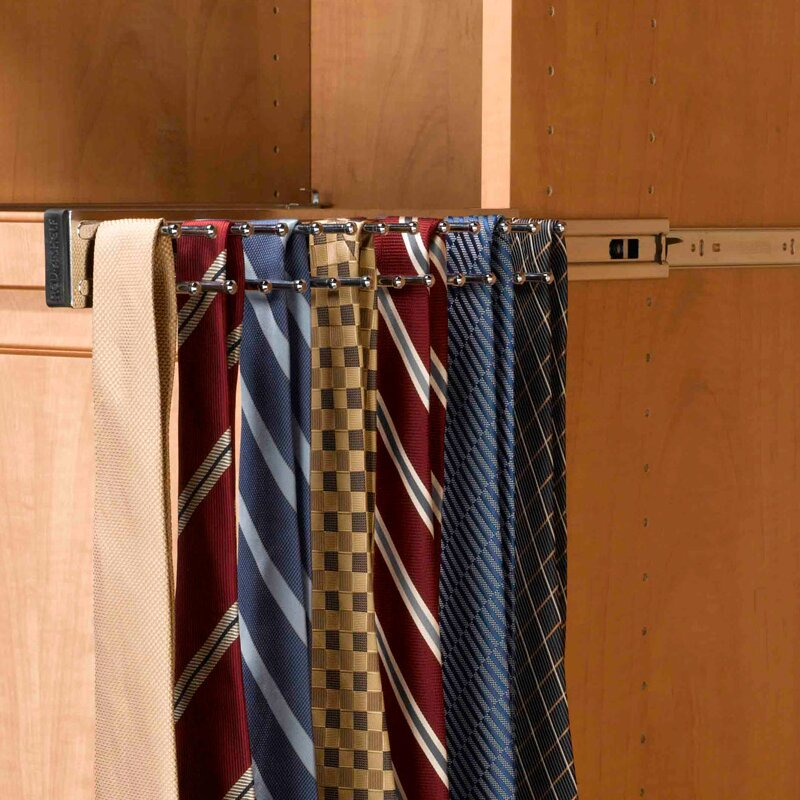 Rev-A-Shelf Pull-Out Side Mount Tie Rack & Reviews   Wayfair