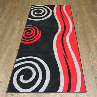 Geo Red Black Area Rug