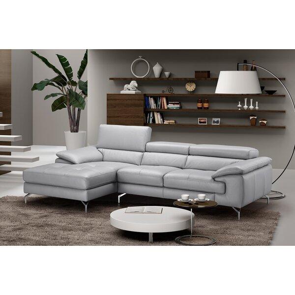 Ju0026M Furniture Liam Leather Sectional U0026 Reviews | Wayfair