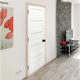 Etonnant Shaker 5 Panel Solid Panelled Wood Prehung Interior Swinging Door