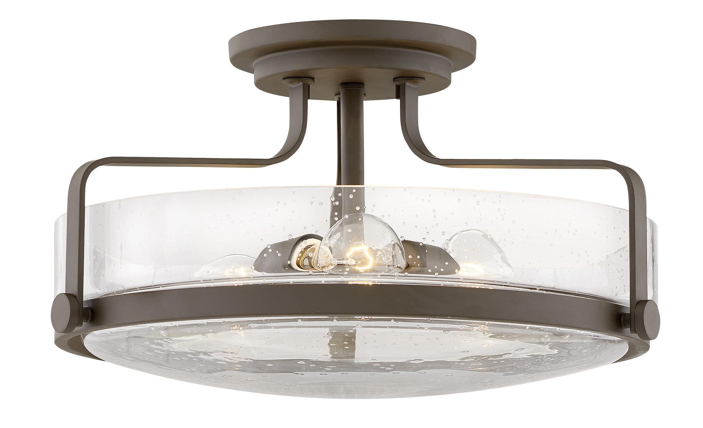 Hinkley lighting harper 3 light semi flush mount reviews wayfair
