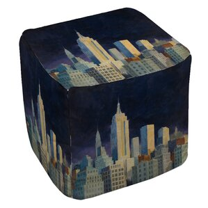 Midnight in Midtown Ottoman by Manual Woodwo..
