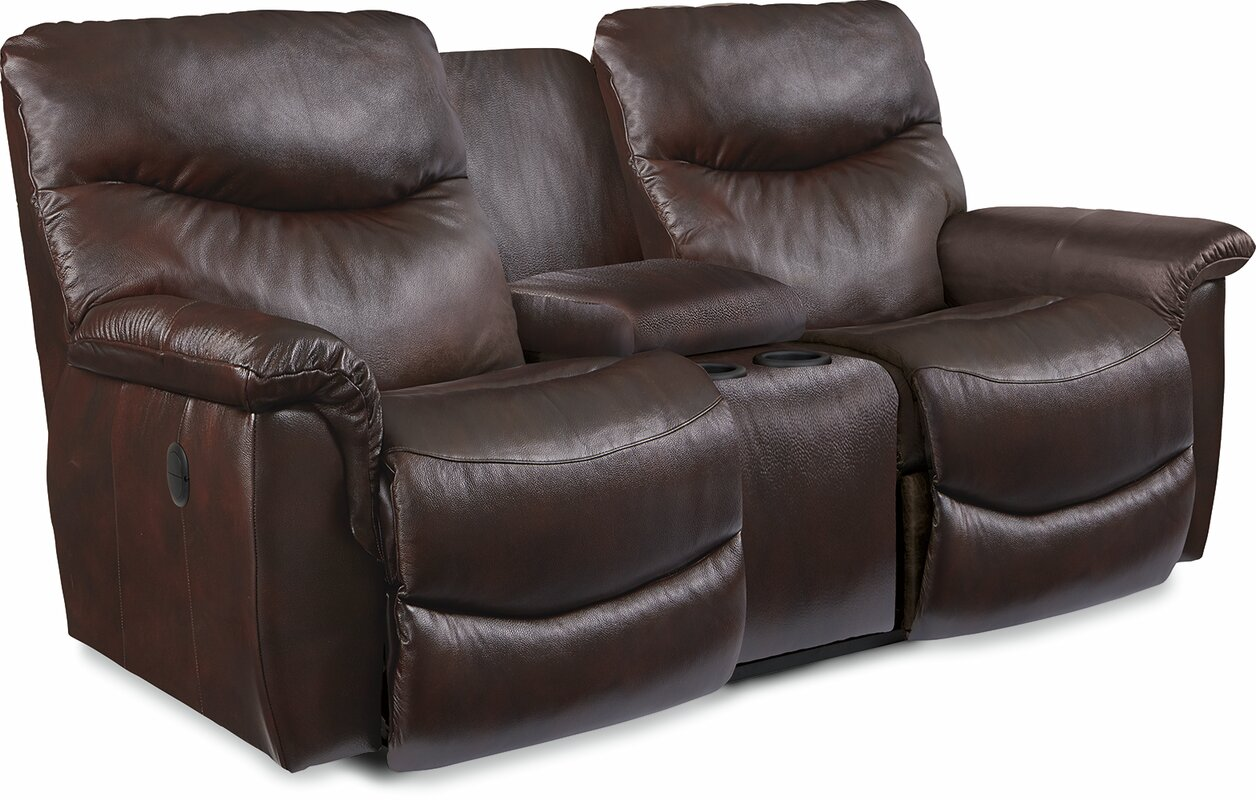 James LA-Z-TIME® Full Reclining Loveseat with Console  sc 1 st  Wayfair & La-Z-Boy James LA-Z-TIME® Full Reclining Loveseat with Console ... islam-shia.org