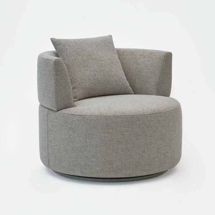 Merveilleux Olivia Swivel Barrel Chair