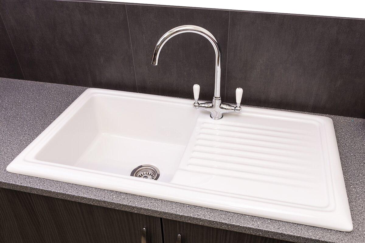 Reginox 101.5cm x 52.5cm Inset Kitchen Sink & Reviews | Wayfair.co.uk