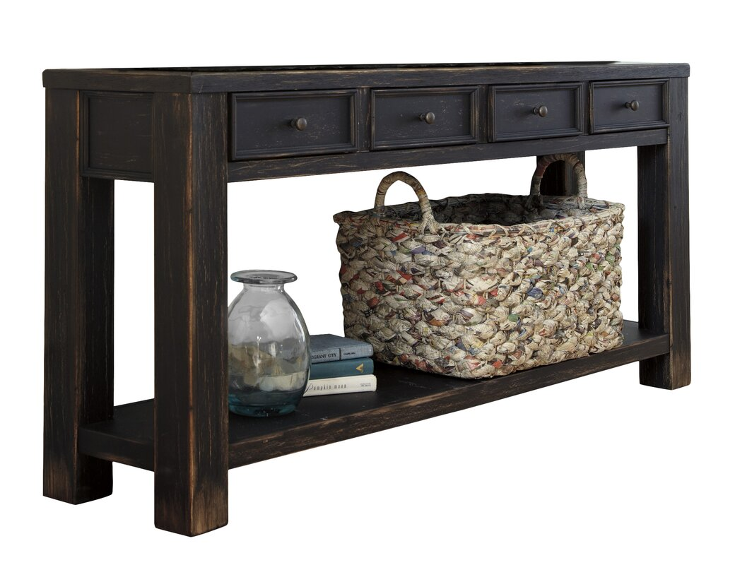 Preston console table reviews joss main for Slim sofa table