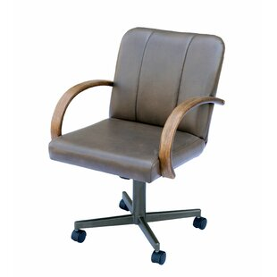 Spraggins Casual Caster Upholstered Dining Chair