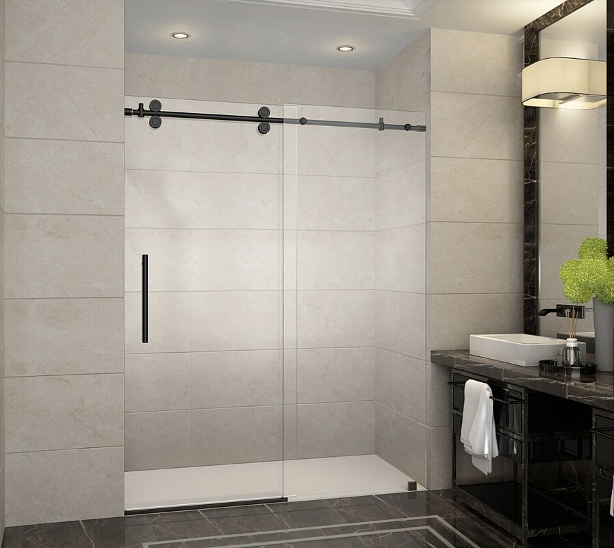 Aston Langham 60 Quot X 75 Quot Single Sliding Frameless Shower
