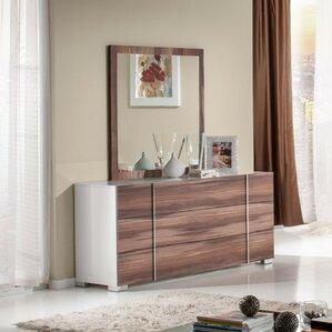 Cobbey Modern 3 Drawer Dresser with Mirror by Wade Logan