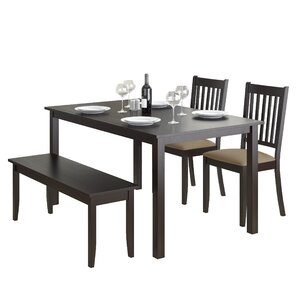 4 Chair Dining Sets bench kitchen & dining room sets you'll love | wayfair