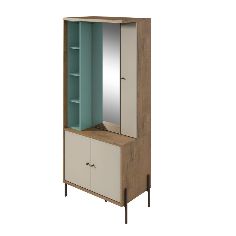 464ca4b0a Turn on the Brights Alviso Free Standing Jewelry Armoire with Mirror ...