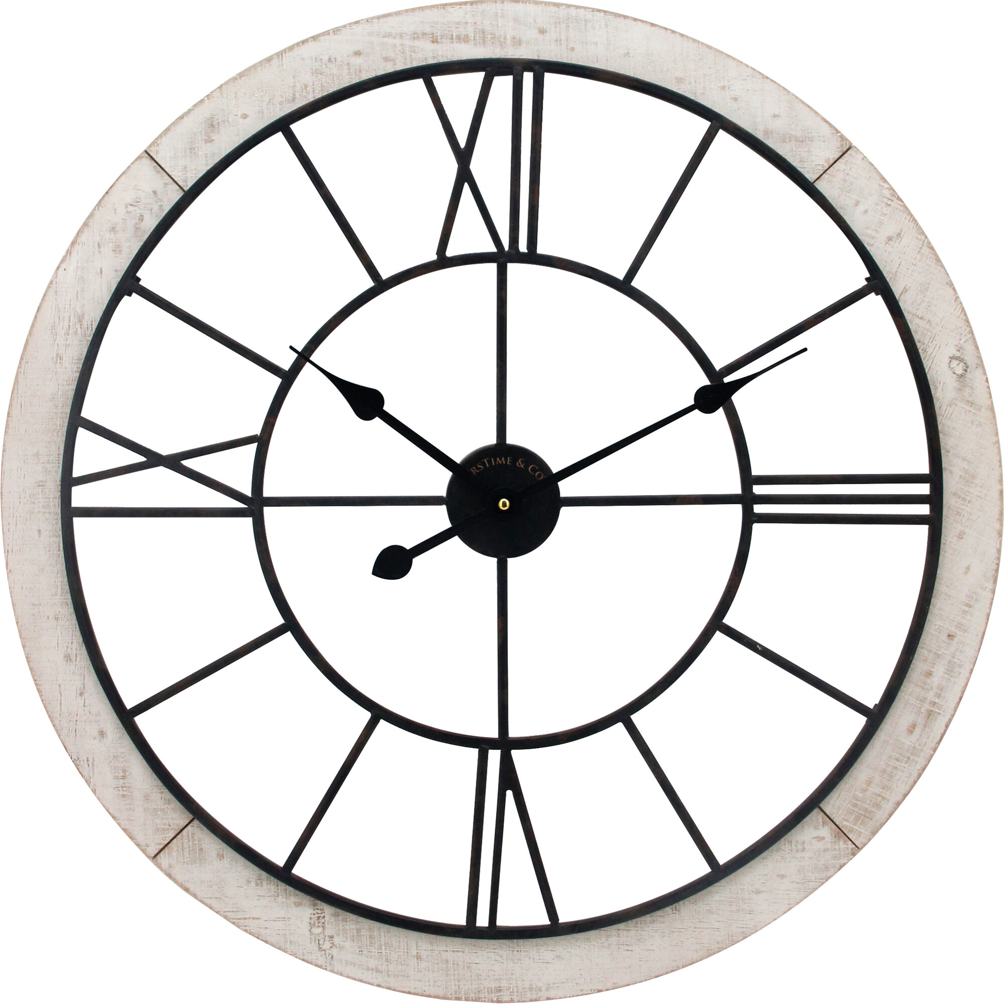 Grosse Horloge Fer Forgé horloge murale surdimensionnée 27 po valeur délavé elsner