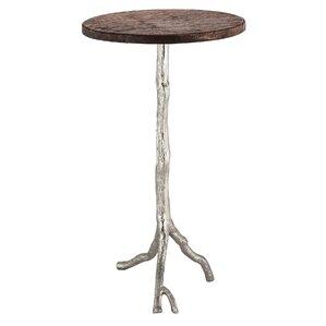Amos Wood/Nickel End Table