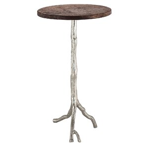 Zola Wood/Nickel End Table
