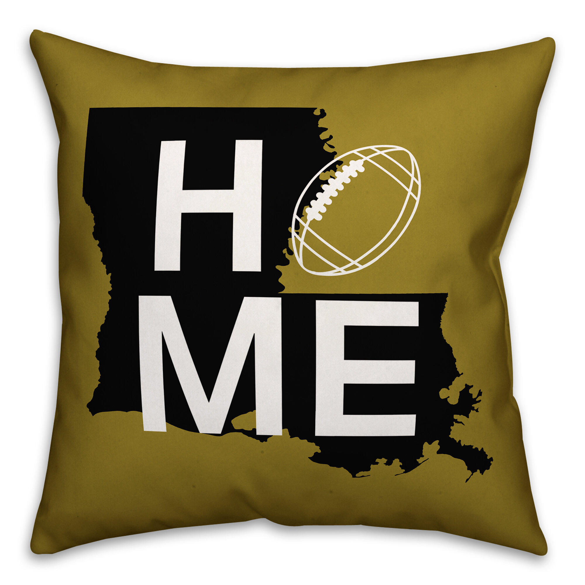 Ebern Designs Darling New Orleans Home Football Indoor Outdoor Throw Pillow Wayfair