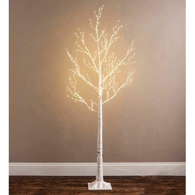 59 birch artificial christmas tree with 400 clear lights