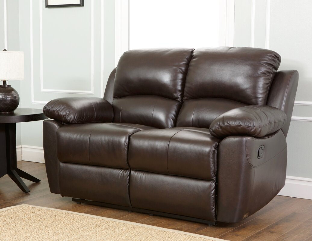 Blackmoor Leather Reclining Loveseat & Darby Home Co Blackmoor Leather Reclining Loveseat u0026 Reviews | Wayfair islam-shia.org