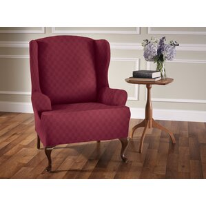 Stretch Sensation T-Cushion Wingback Slipcover by Red Barrel Studio