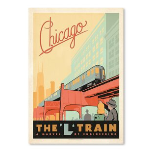 Chicago L Train Vintage Advertisement  sc 1 st  Wayfair & Train Wall Art Youu0027ll Love   Wayfair