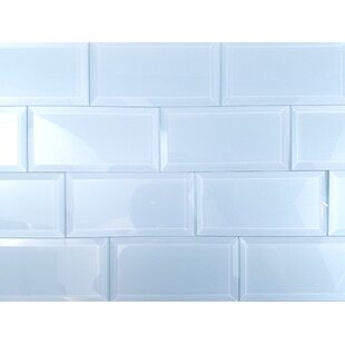 Frosted Elegance 3 X 6 Gl Subway Tile In Glossy Blue