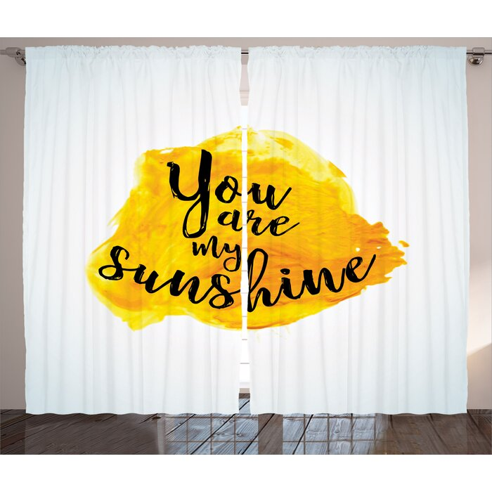 East Urban Home You Are My Sunshine Quotes Decor Graphic Print And