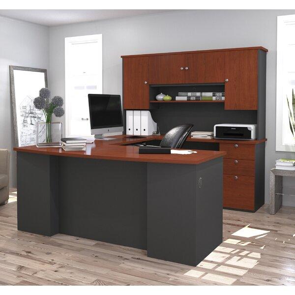 Red Barrel Studio Independence Executive Desk with Hutch & Reviews   Wayfair - Red Barrel Studio Independence Executive Desk With Hutch & Reviews
