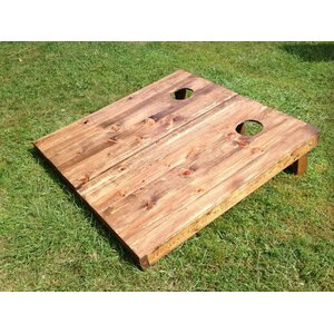 Stained Wood Slat Cornhole Board (Set of 2)