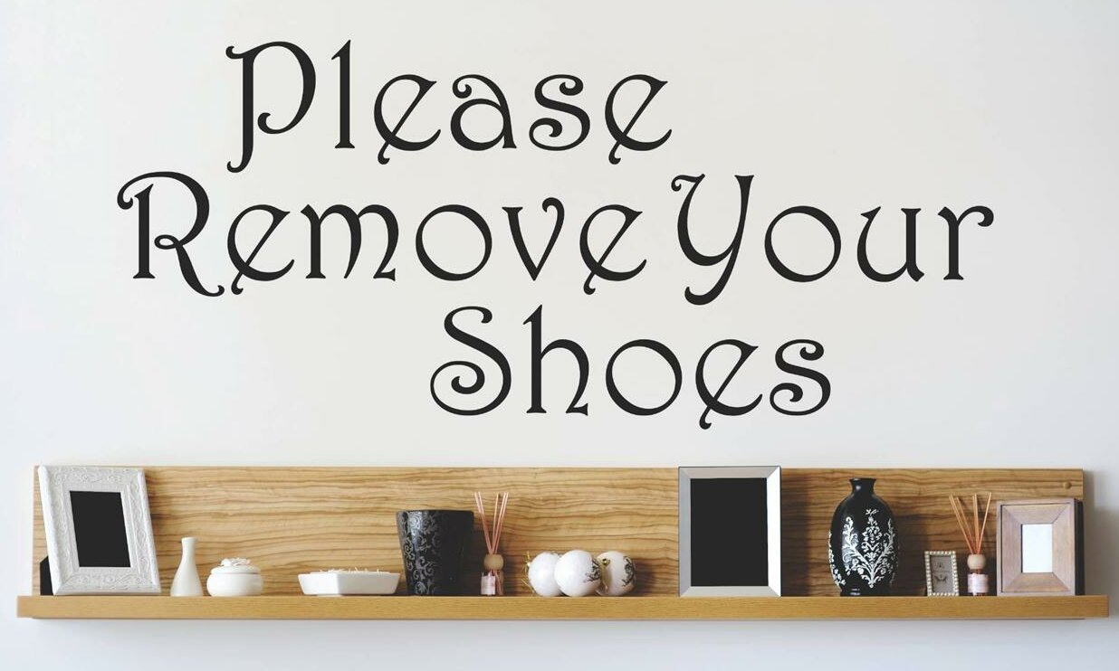 Please Remove Your Shoes Wall Decal