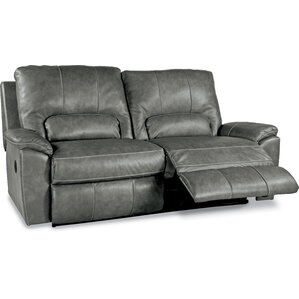 Charger La-Z-Time? 2 Seat Full Leather Reclining Sofa by La-Z-Boy