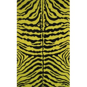 Fun Time Yellow Zebra Skin Area Rug