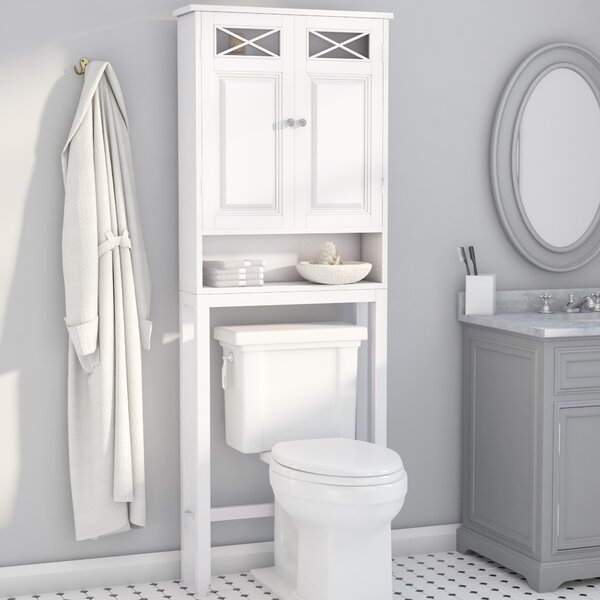 Darby Home Co Coddington 25 W X 68 H Over The Toilet Storage Reviews Wayfair