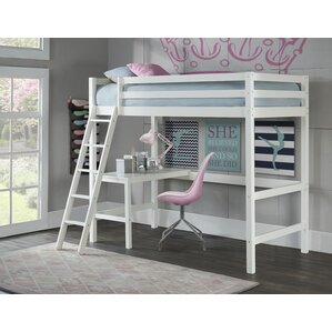 Felipe Twin Bunk with Study Loft by Harriet Bee