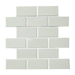 """Subway Tile mulia tile classique 2"""" x 4"""" porcelain subway tile in white"""