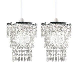 19cm Crystal Novelty Pendant Shade (Set of 2) by MiniSun
