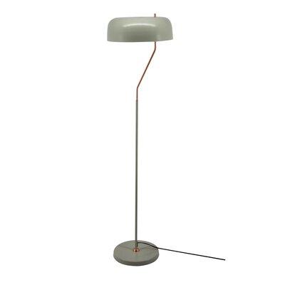 Brayden Studio Pinter 59.8 Arched Floor Lamp Base Color: Gray
