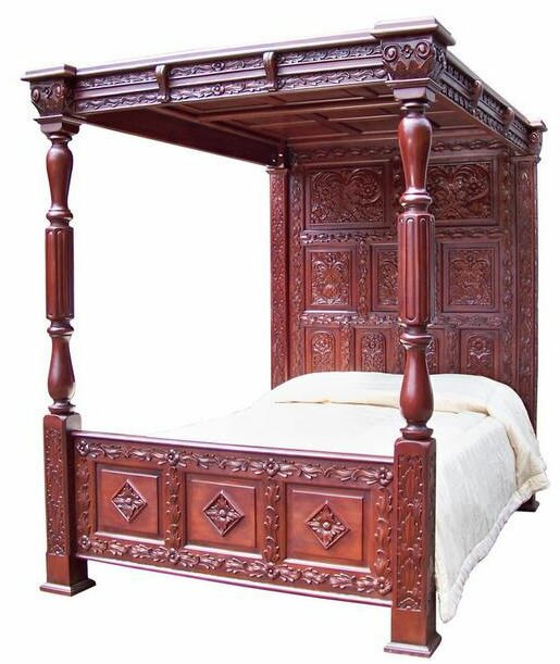 default_name - Mahogany Bed Frame