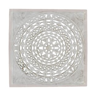 All Carved Square White Wall Art