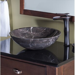 Save. Novatto. Stone Circular Vessel Bathroom Sink