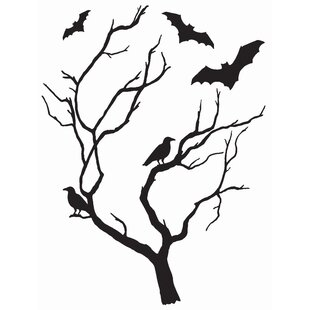 Nature flower wall decals youll love wayfair spooky tree large wall decal mightylinksfo