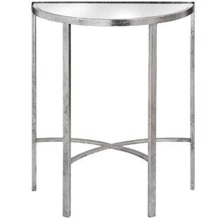 Bursaite Mirrored Half Moon Side Table