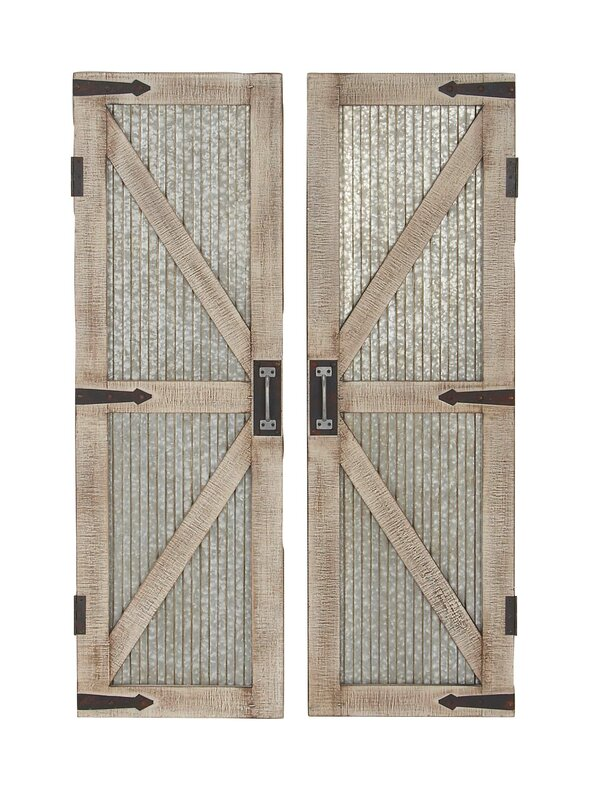 Cole Amp Grey Farmhouse Iron And Wood Interior Barn Door Amp Reviews Wayfair