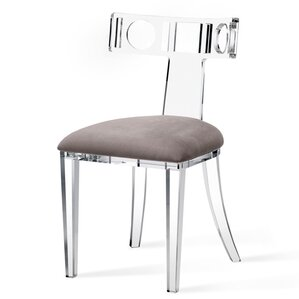 Ardsley Acrylic Klismos Upholstered Dining Chair by Interlude