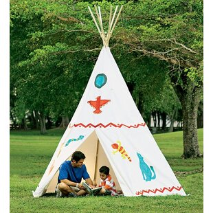 Family Sized Cotton Canvas Teepee With Wooden Poles 12u0027 Play Teepee