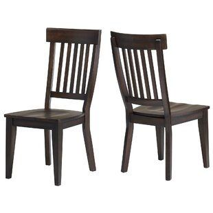 Carlsen Rake Back Solid Wood Dining Chair (Set of 2)